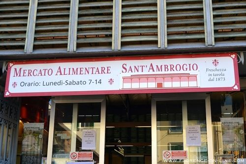The entrance of the Mercato Sant'Ambrogio. Visit Florence-On-Line for more pictures of this market.