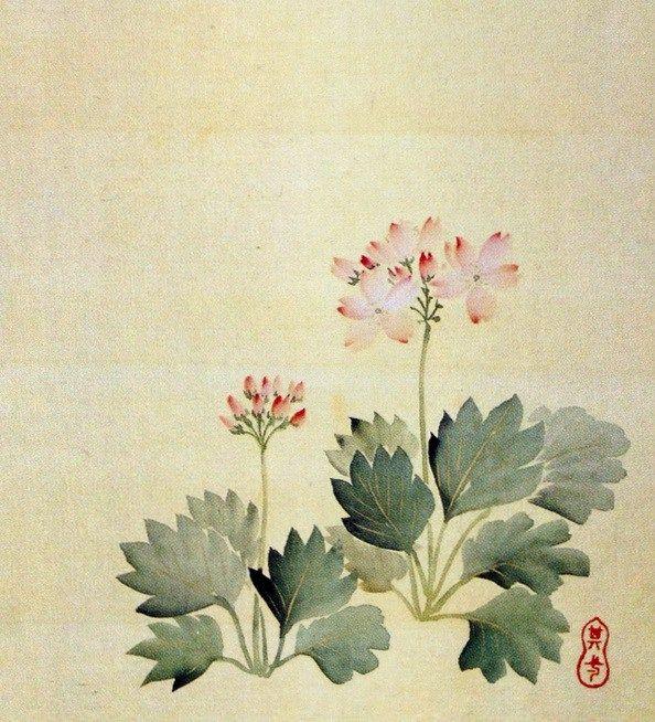 Title:月次花鳥画帖 三月 Monthly pictures of birds and flowers, March Artist:鈴木其一 Suzuki Kiitsu
