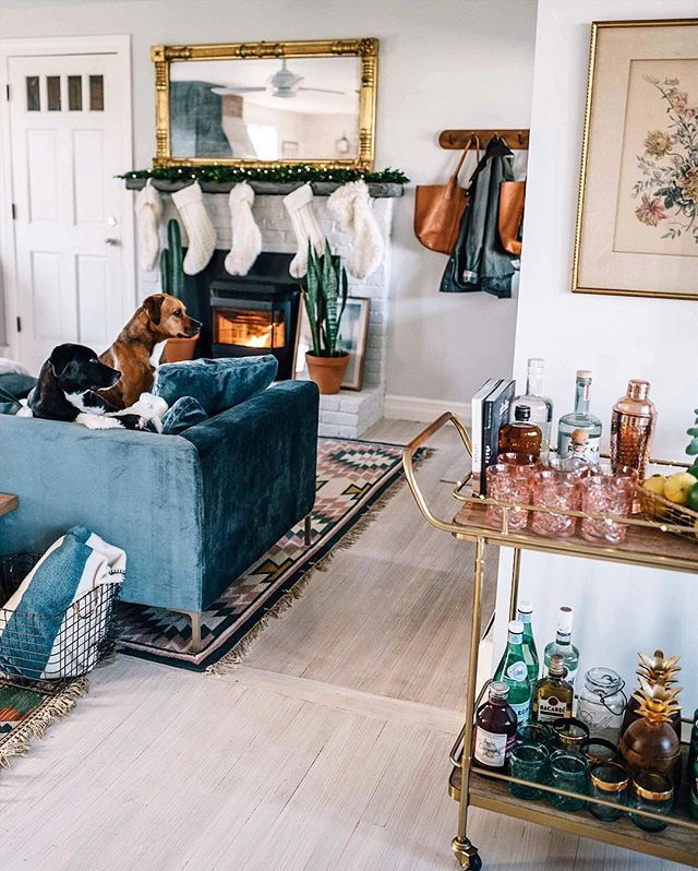 A Cozy holiday home... complete with puppies! via @jessannkirby