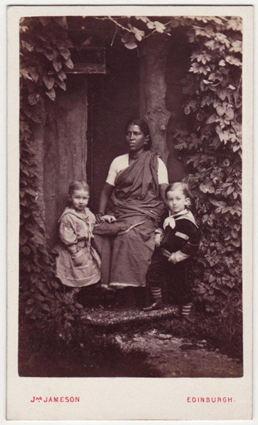 Ayah with two children, 1880s