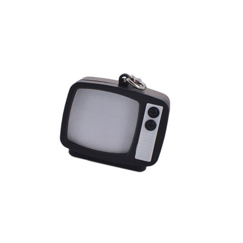 Retro-themedTelevision Set Key Chain (Black)