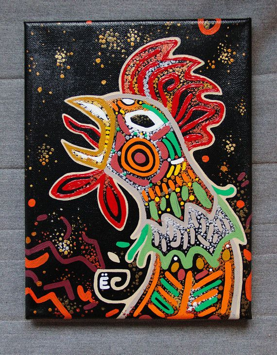 This two roosters will become a very nice addition to any collection or specific interior. Alyona was born in Central Asia, place of sun and bright colors, which is obvious from her work.