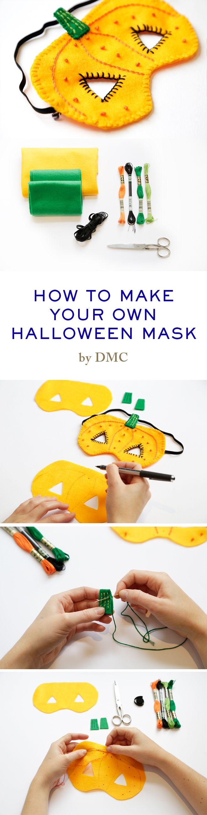 How to make your own Halloween mask. www.dmc.com