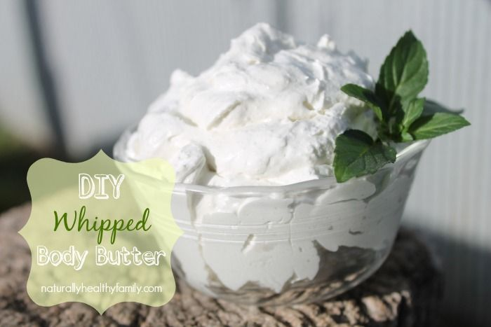 DIY Whipped Body Butter. Coconut oil, shea butter and essential oils make a non-greasy, hydrating treat for your skin.