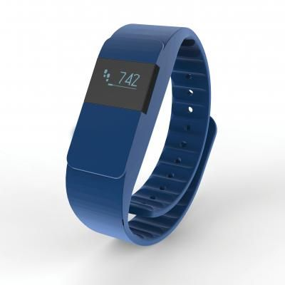 Image of Branded Activity Tracker With Sleep Pattern. Blue