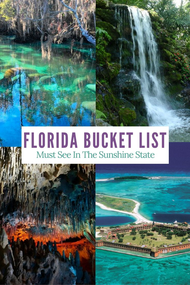 All the places in Florida I want to visit. A full bucket list. Check it out!