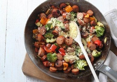 Chorizo och couscouspytt