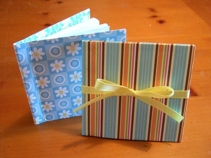 make mini books. Fun for girl scouts, or birthdays