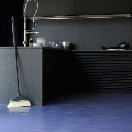 Rubber flooring in kitchen