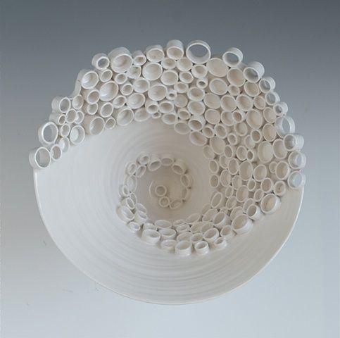 Ceramic Fine Art and Design Katherine Dube - RingsCollective-swirl (detail image)
