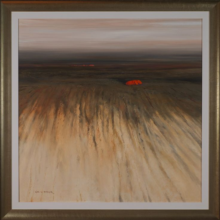 #14017 Colin Parker 'Aerial View Uluru' 111cm x 111cm