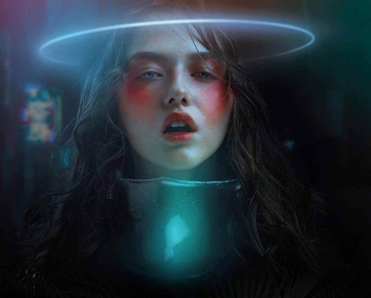 Inspiring Neon Editorial by Alexander Berdin-Lazursky | Trendland