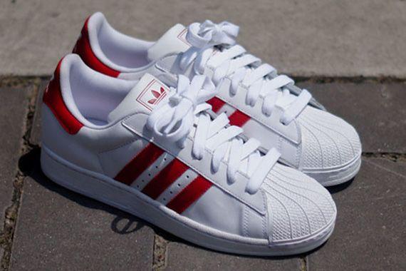 adidas Originals Superstar II  White/Red