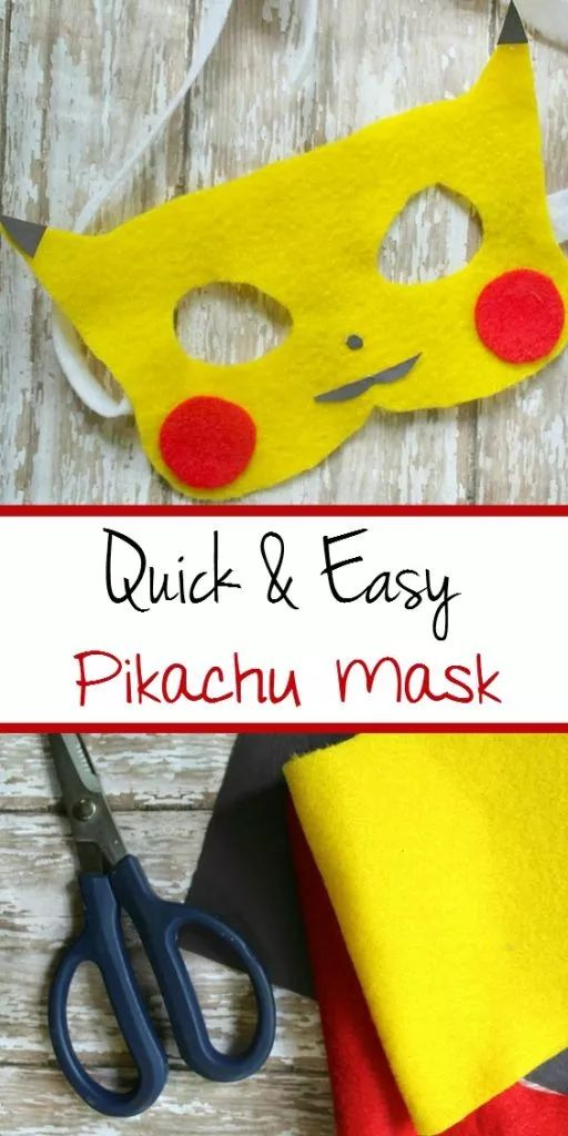 Pokemon Craft : Easy DIY Pikachu Felt mask for kids   Pokemon Go