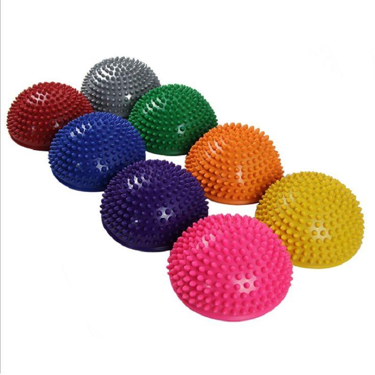 Yogaハーフボール体力アプライアンス行使バランスボールポイントマッサージステッピング石bosuバランスのさやジムyogaピラティス