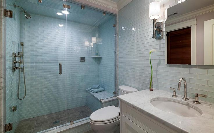 Hemingway Construction   Gallery of Bathrooms   Glass Tile