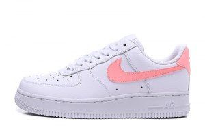 fe1010af10d2d Nike Air Force 1 07 Patent White Oracle Pink AH0287-102 Womens Running Shoes