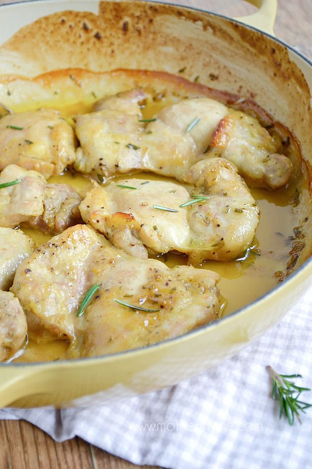 Maple mustard chicken Did these on the grill, used bone in thighs ...