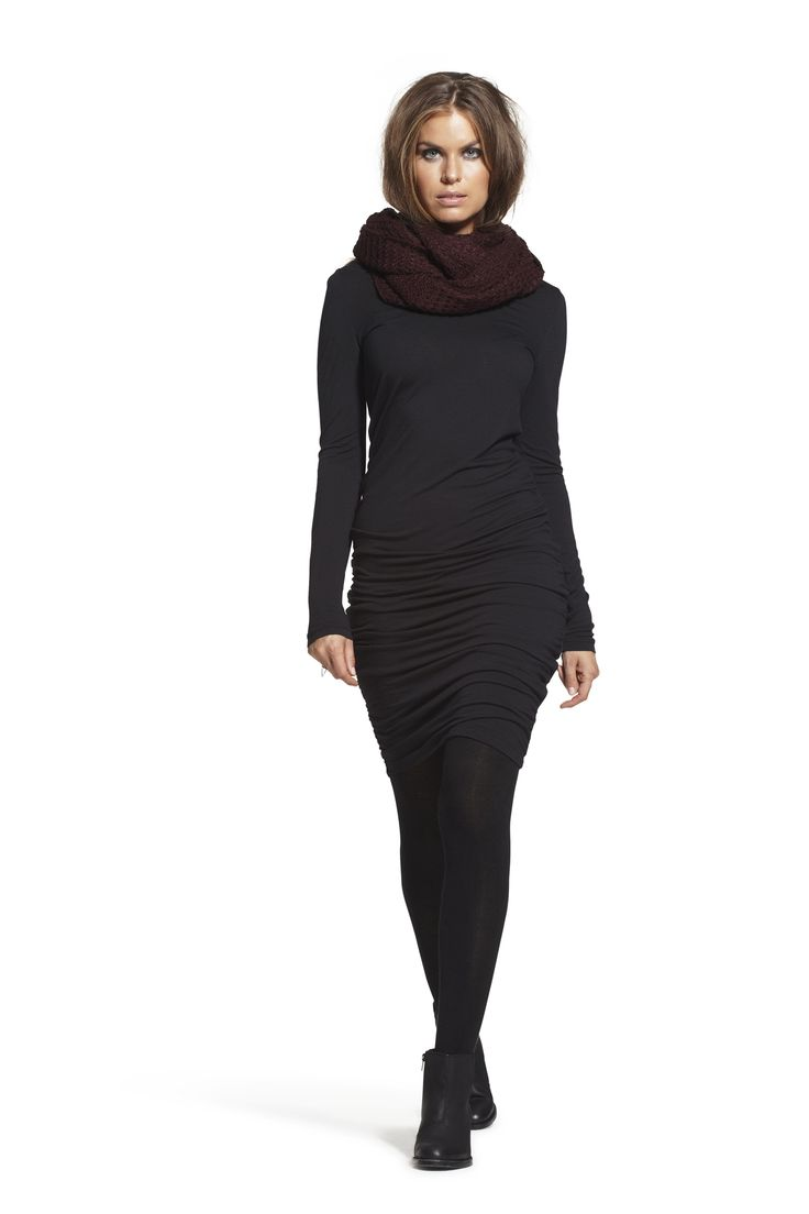 Camilla Jersey Dress and Carolyn Knit Snood