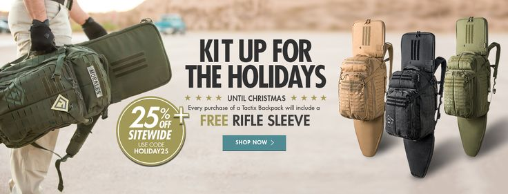FREE Rifle Sleeve with purchase of Tactix Backpack