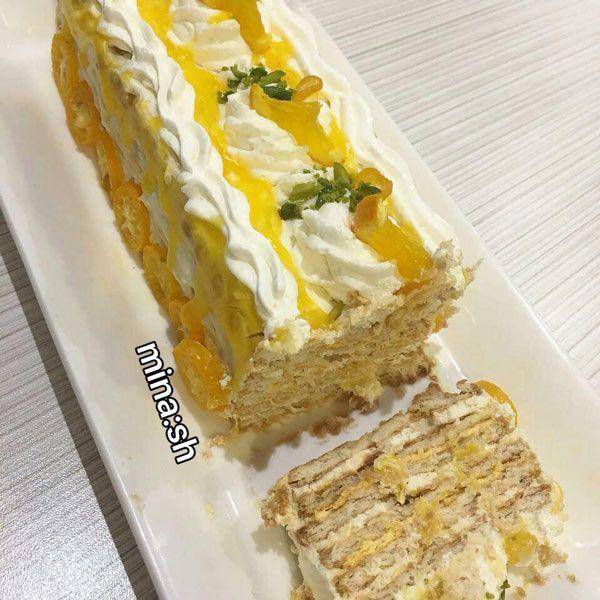 طرز تهیه کیک یخچالی پرتقالی خوشمزه و مجلسی بدون نباز به فر مجله تصویر زندگی Persian Food Food Platters Iranian Food