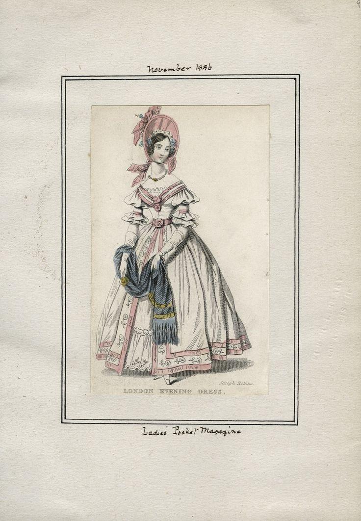 Casey Fashion Plates Detail | Los Angeles Public Library Ladies' Pocket Magazine Date:  Tuesday, November 1, 1836