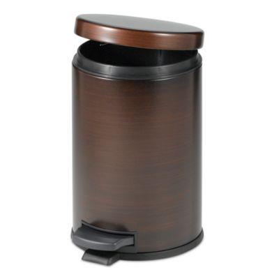 India ink oil rubbed 4 1 2 liter bath step on wastebasket for Bathroom wastebasket