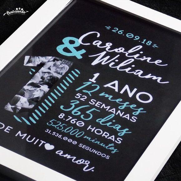 Quadro Casal Aniversario Namoro A4 Com Imagens Dia Dos
