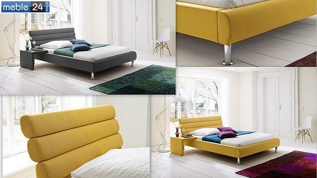 BED FLAP 140 160 cm materiał  antracyt żółty szatan