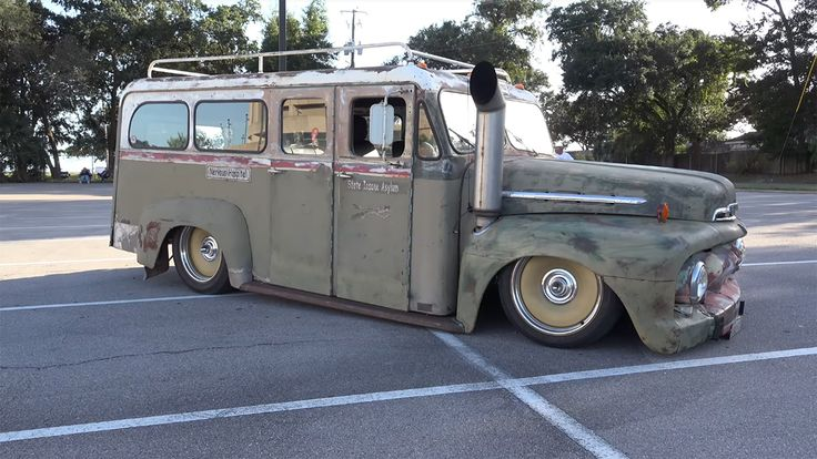 1951 Ford Stewart Safteymaster wagon with a Cummins turbo diesel inline-six