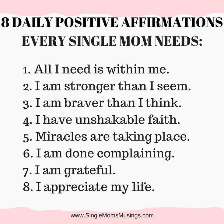 8 daily affirmations for single moms to promote confidence and strength when we need it most.