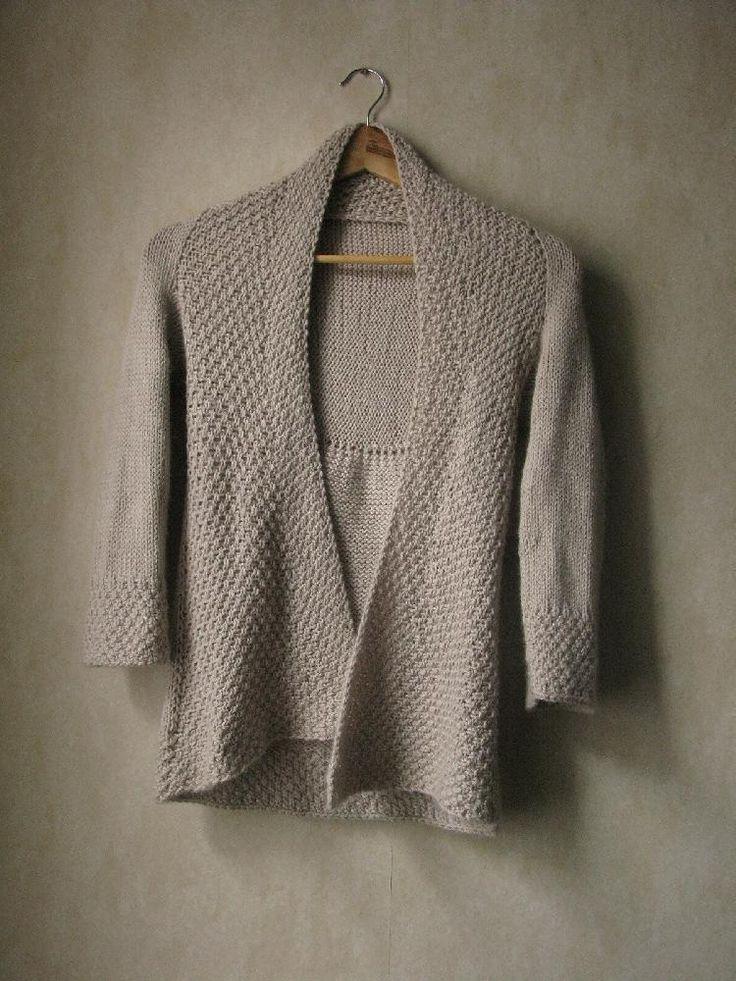 Knitting Pattern Moss Stitch Cardigan : Snowcloud Cardigan knit and crochet- cardigans and jackets Pinterest Ya...
