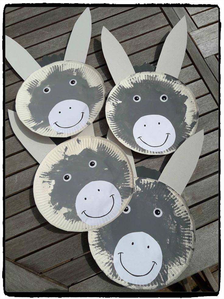 Anes en assiettes en carton (l'âne Trotro) – Mes humeurs créatives by Flo