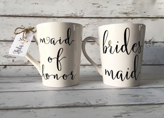Bridesmaid Coffee Mug Bridesmaid Proposal Gift by OhLOLAandco