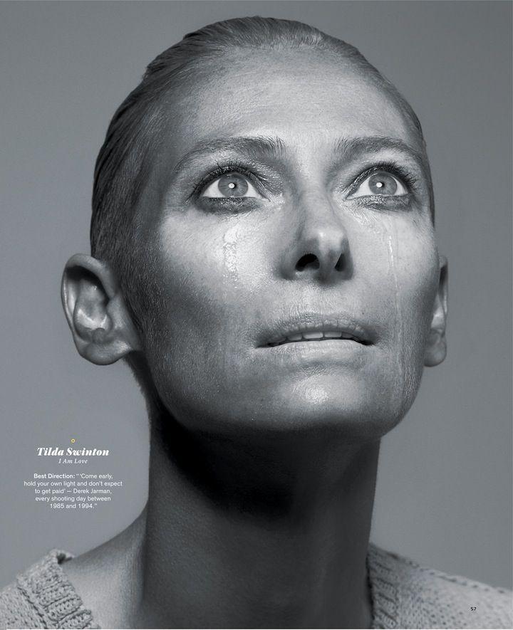 Tilda Swinton is alien and stunning.