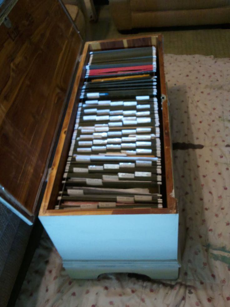 Cedar Chest As A File Cabinet What A Great Idea I Think