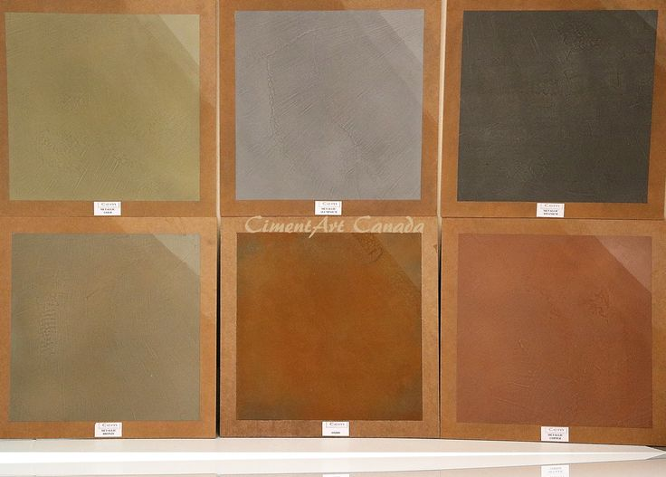 Our Metallic colors in CimentArt Canada