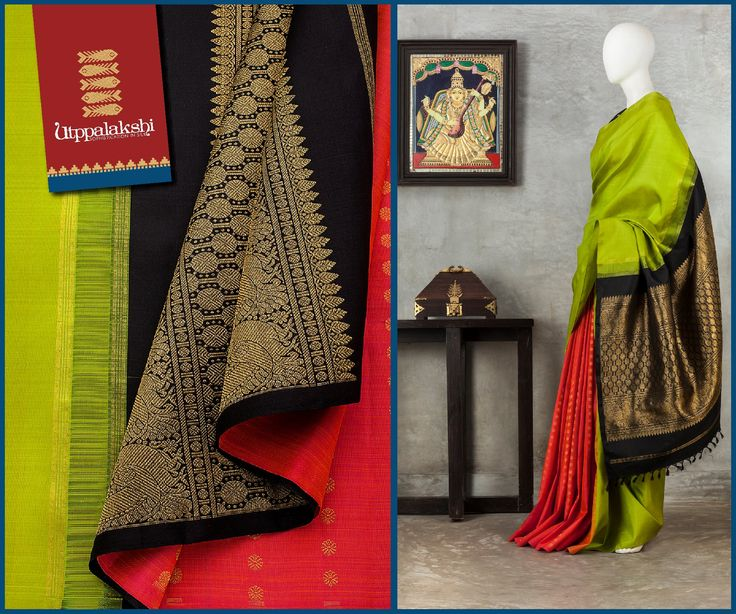 With a banana yellow body and annapakshi zari worked brown pallu, the signature twist in this partly pallu saree is its zari bhutti drizzled red pleated segment. #Utppalakshi #Silksaree#Kancheevaramsilksaree#Kanchipuramsilks #Ethinc#Indian #traditional #dress#wedding #silk #saree #weaving#Chennai #boutique #vibrant#exquisit#weddingsaree#sareedesign #colorful #vivid #indian #southindian #bridal #festival #sophistication   https://www.facebook.com/Utppalakshi/   Contact: 097899 37149
