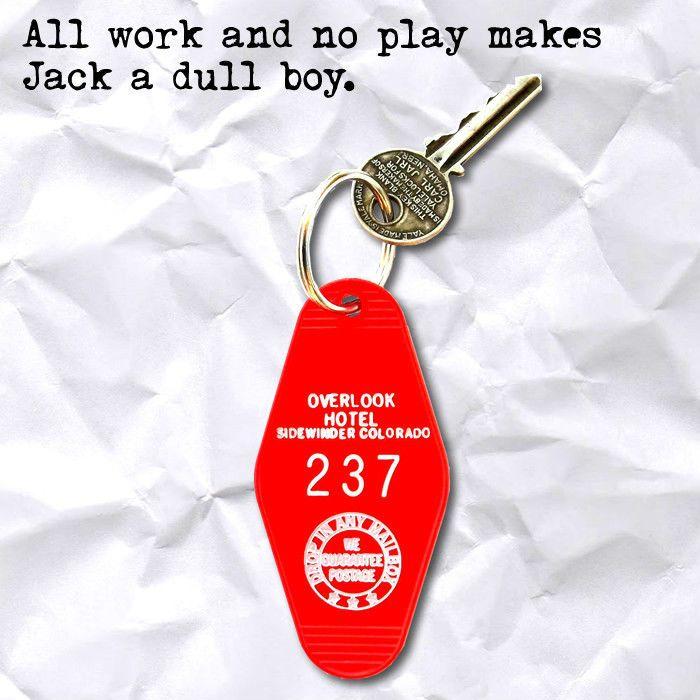 New THE OVERLOOK HOTEL the shining ROOM 237 horror movie prop KEYCHAIN, key fob  | eBay