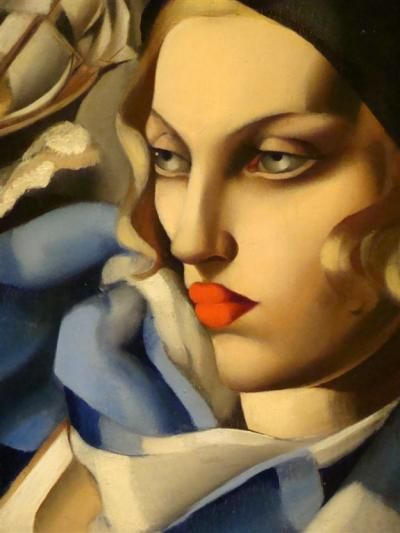 Tamara de Lempicka, the queen of Art Deco-La sciarpa blu, 1930