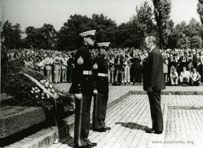 President Ford becomes the first United States President to visit Auschwitz: July 29, 1975