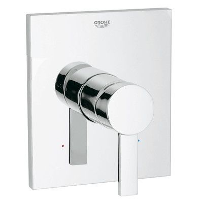 Grohe Allure Pressure Balance Valve Faucet Trim with Lever Handle Finish: Chrome