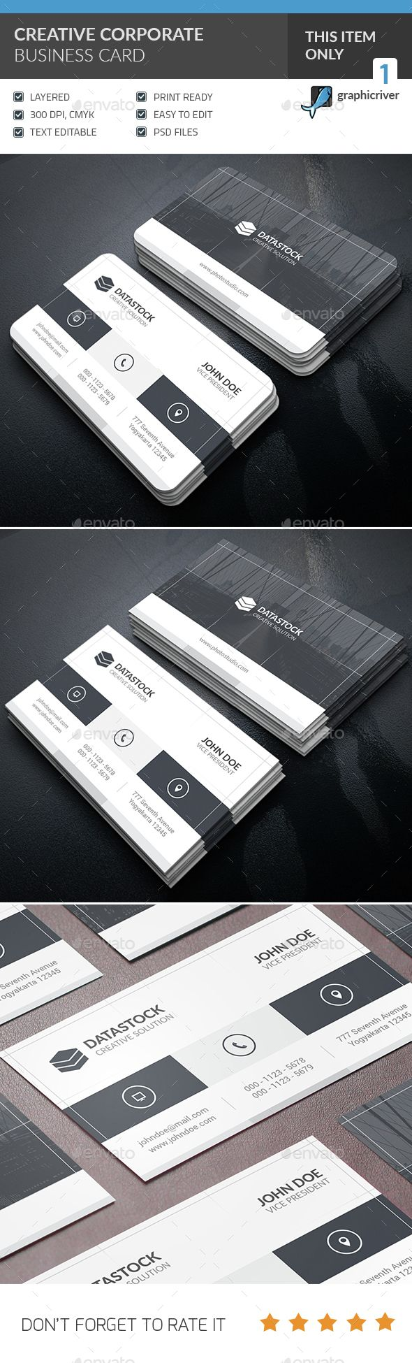 1215 best tarjetas de presentacin images on pinterest business creative corporate business card photoshop psd horizontal company available here https reheart Choice Image