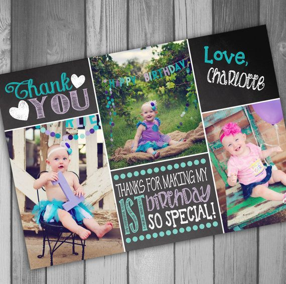 25 best Birthday thank you cards ideas – First Birthday Thank You Cards