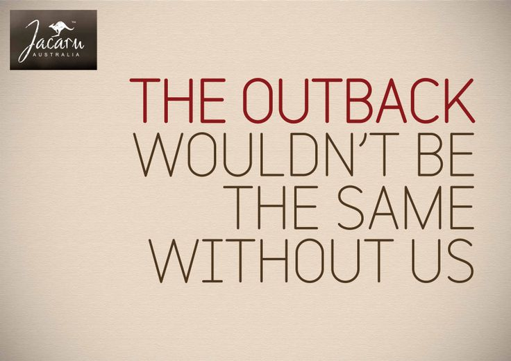 The outback style by Jacaru Australia