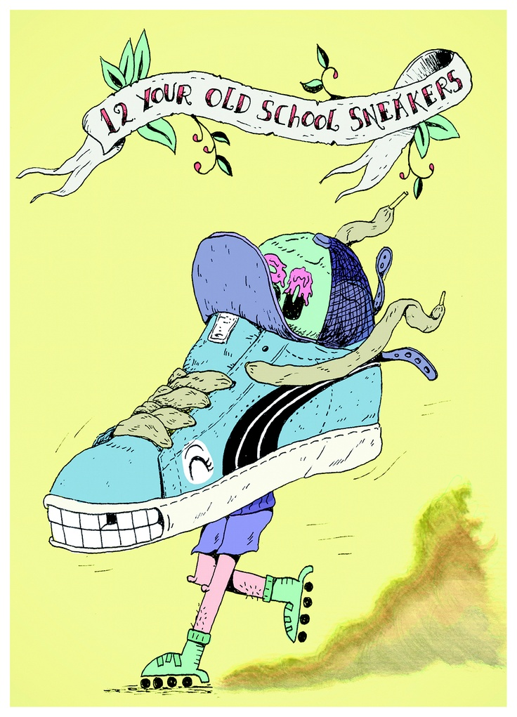 12. Your old school sneakers. (Drawn by Daniel Chastinet: http://www.chastinet.com/)