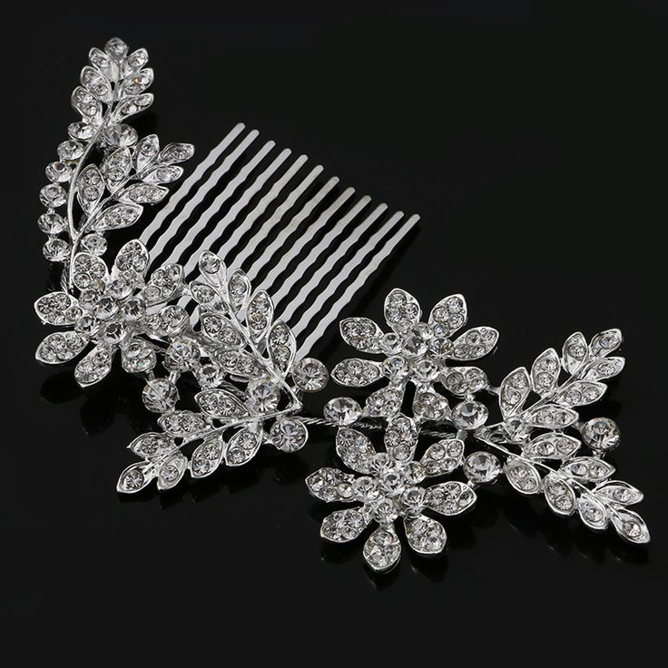 bridal alloy Hair combs rhinestone leaves wedding jewelry bridal wedding combs crystal bride headdress wedding accessoriesRE389