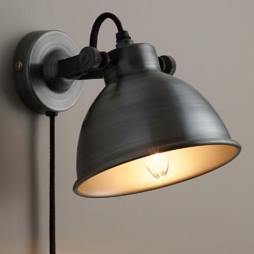 bedroom lighting solutions. perfect solutions aged zinc ethan wall sconce bed wallbedroom lampslighting ideaslighting  solutionsplug  for bedroom lighting solutions