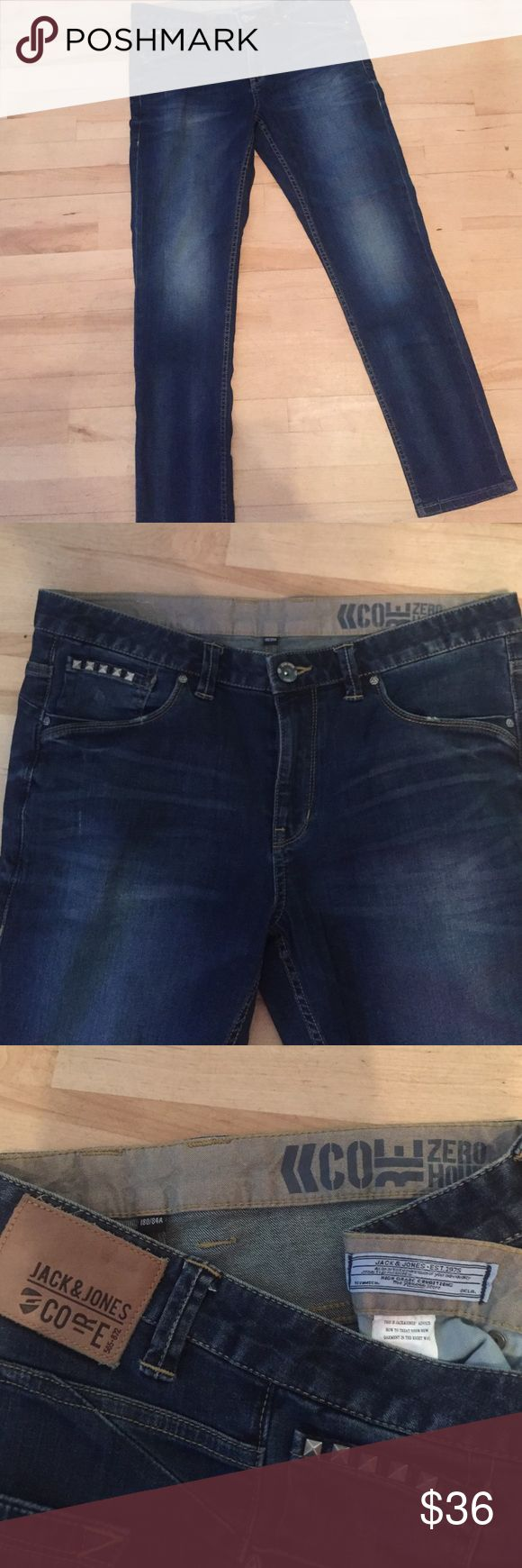 LIKE NEW Jack and Jones JEANS⭐️ Jack and Jones Core like new jeans!! Great condition!⭐️studs on front pocket. Size 34/32 Jack and Jones Jeans