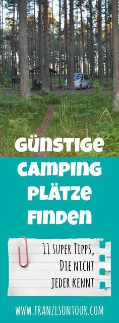 Find cheap campsites – 11 tips that not everyone knows